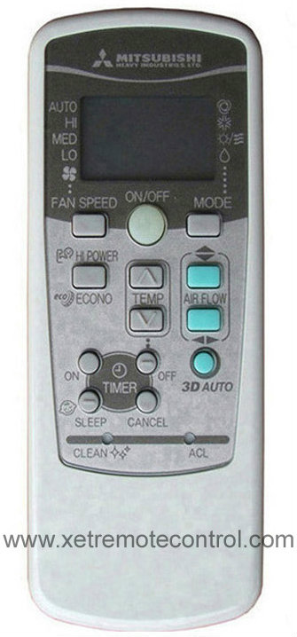 AIR CONDITIONING REMOTE CONTROL --- MITSUBISHI ---