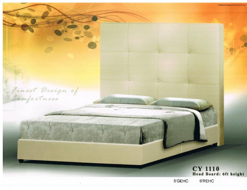 Cy 1110 bed double bed johor bahru jb malaysia tan furniture for Sofa bed johor bahru