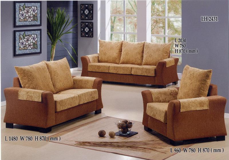Lh2431 sofa fabric sofa johor bahru jb malaysia tan for Furniture johor bahru