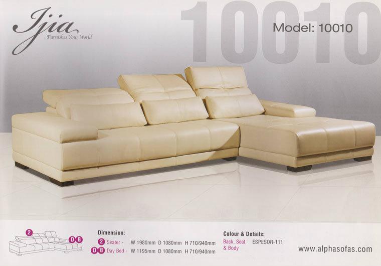 Model 10010 leather sofa jia jb johor bahru malaysia for Furniture johor bahru