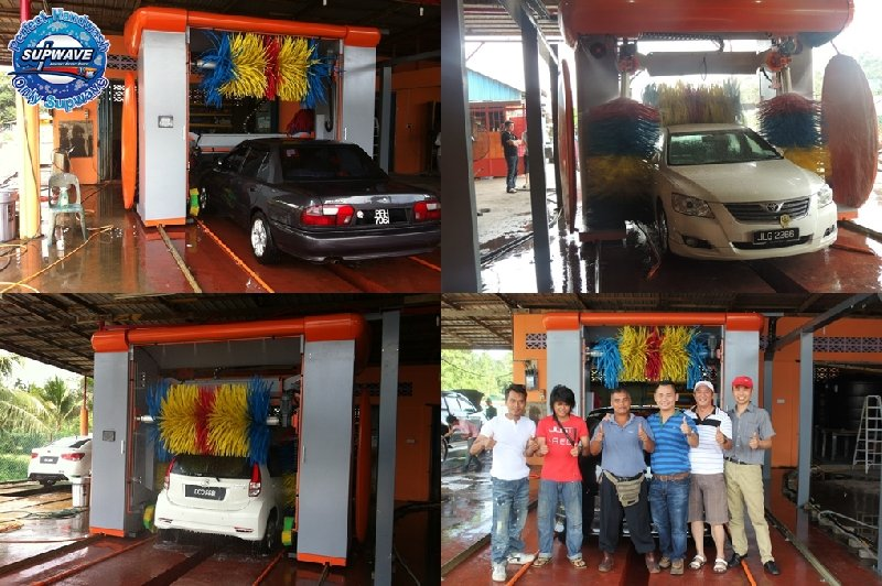 2ND SUPWAVE AUTO CAR WASH MACHINE DONE ON TANAH MERAH ,KELANTAN