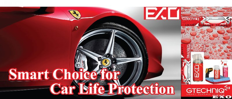 Smart Choice for Car Life Protection * Gtechniq EXO *only at SUPWAVE