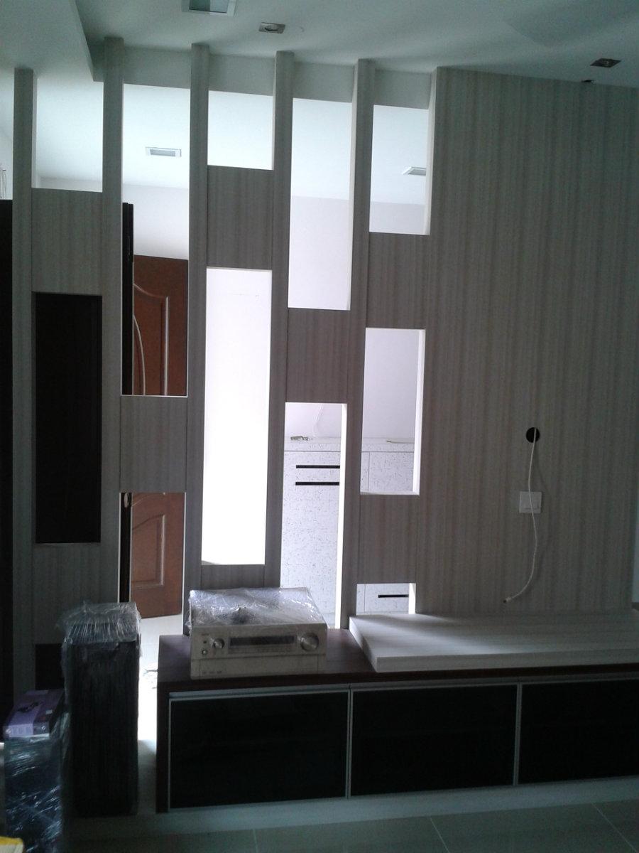 Tv console jb johor bahru living room design moust austin for Living room design johor bahru