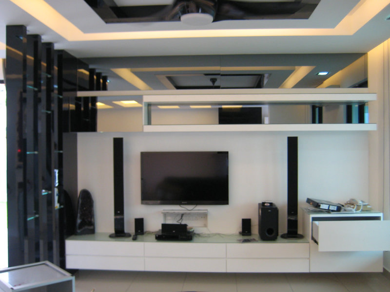 Tv console jb johor bahru living room design seri austin for Living room jb