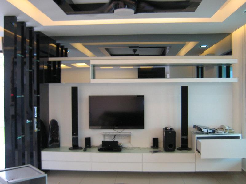 Tv console jb johor bahru living room design seri austin for Living room design johor bahru