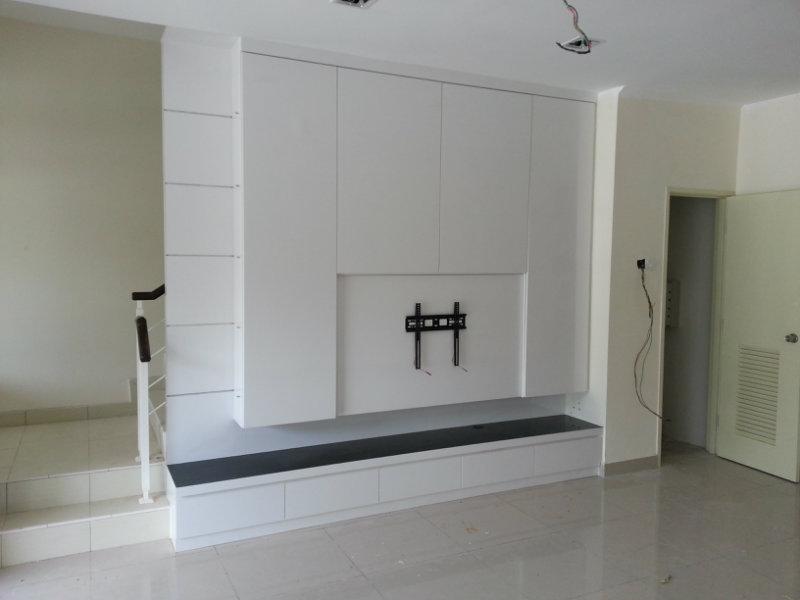 Tv console jb johor bahru living room design kota tinggi for Living room design johor bahru