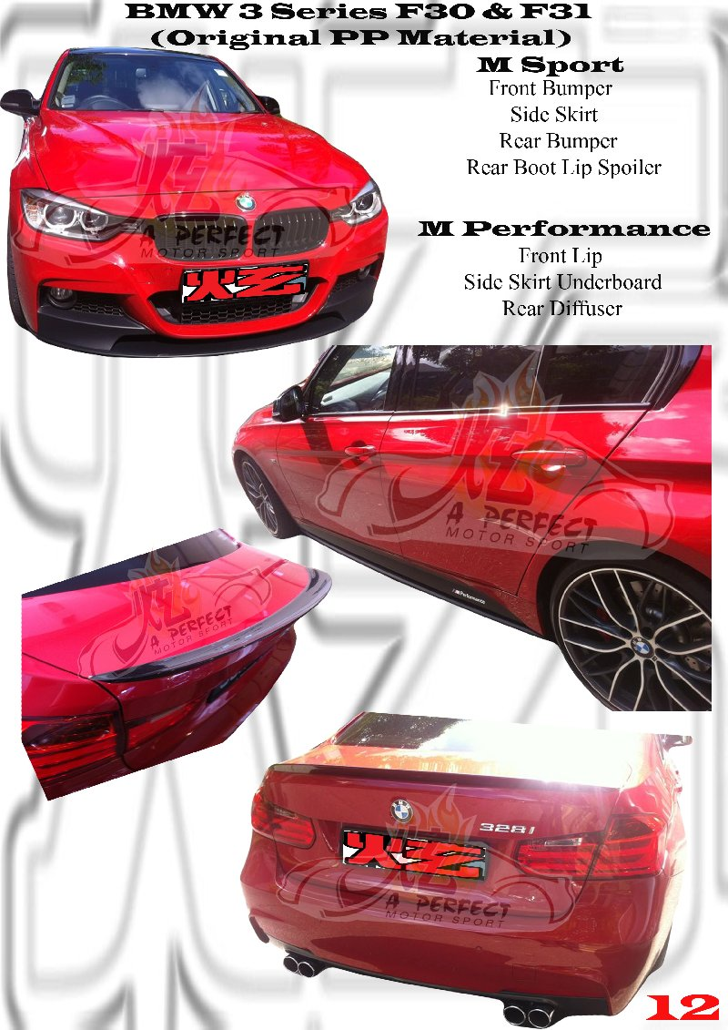 BMW 3 Series F30 & F31 M Sport & M Performance Original Bodykit