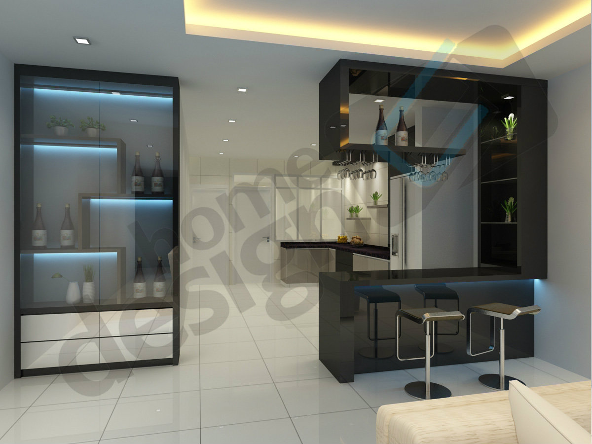 Bar counter 3d design skudai jb design cai yi Bar counter design