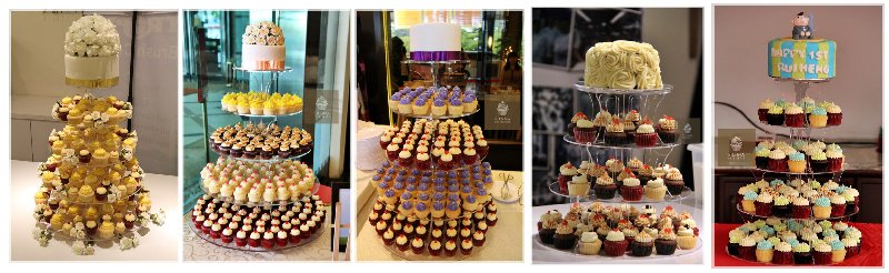 Sienna Patisserie Cupcake Bakery Tower (Online Bakery House)