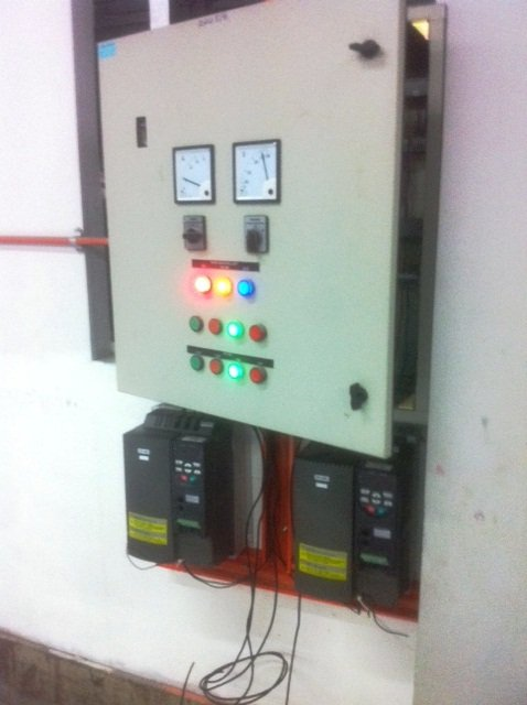 STAR DELTA CONTROL UPGRADE TO MOGEN MORRIS A8000 ENERGY SAVING INVERTER PROJECTS INDONESIA