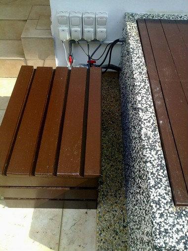 Balau wood holding cabinet koi pond accessories johor for Koi pond johor bahru