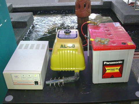 AC back-up, Air pump and battery set