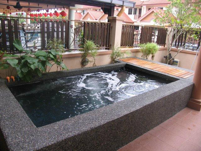 Mutiara rini mr mohd koi pond design and build johor for Koi pond johor bahru