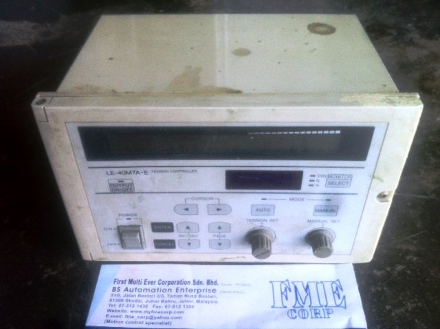 MITSUBISHI TENSION CONTROLLER LE-40MTA-E AC85-264V REPAIR MALAYSIA INDONESIA SINGAPORE