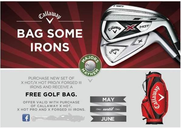 If you thought buying a set of irons without a golf bag meant extra money from the coffers........Ge