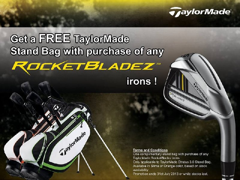 TaylorMade Rbladez Irons on Promotion till End of JULY 2013