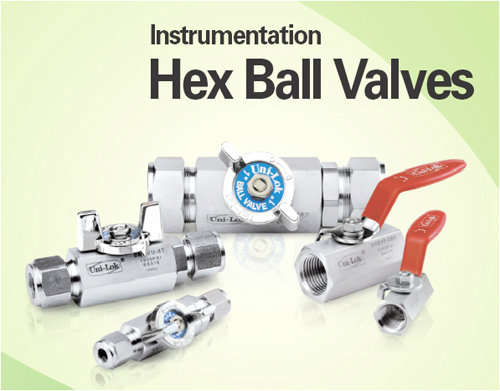 Instrumentation Hex Ball Valve