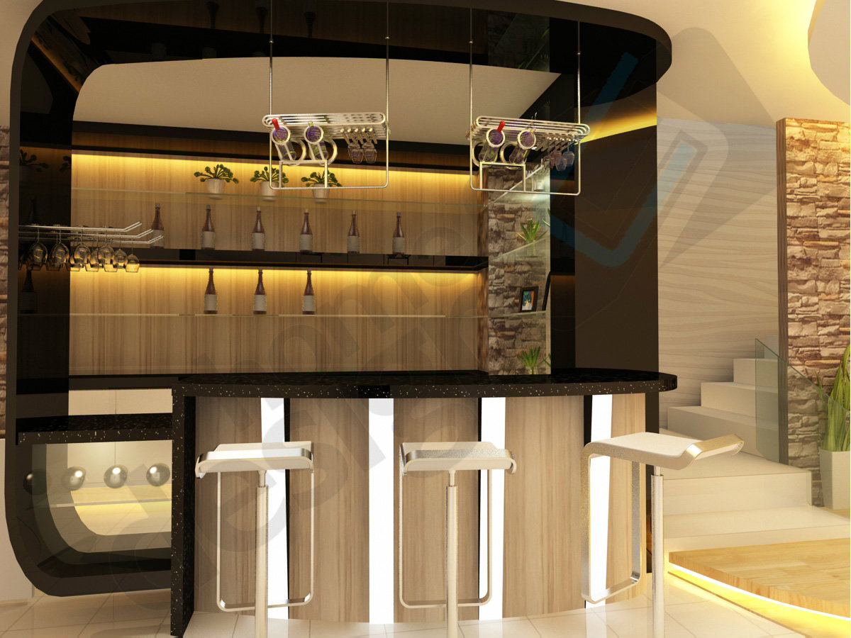 Bar counter 3d design skudai jb design cai yi construction m sdn bhd - Bar counter design ...