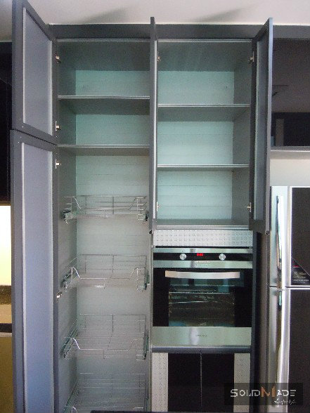 Aluminium tall cabinet aluminum kitchen cabinet aluminum for Kitchen cabinets aluminium