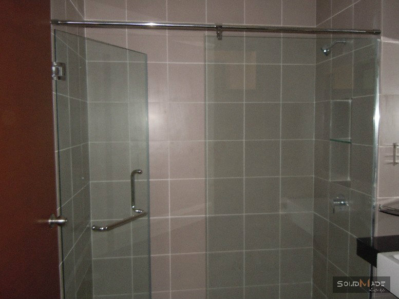 Shower screen swing door tempered glass shower screen for Door design johor bahru