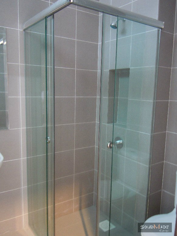 Shower Screen Corner Sliding Door Tempered Glass Shower