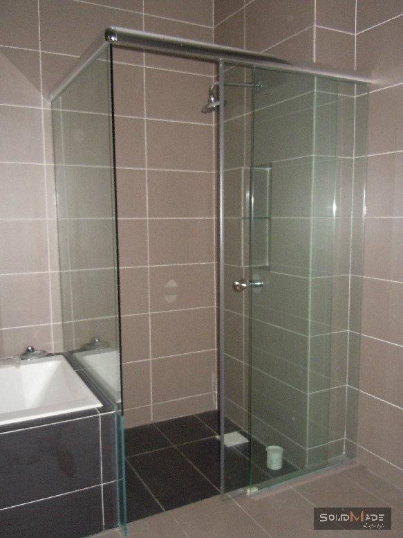 Shower Screen Swing Door (tempered Glass Shower Screen