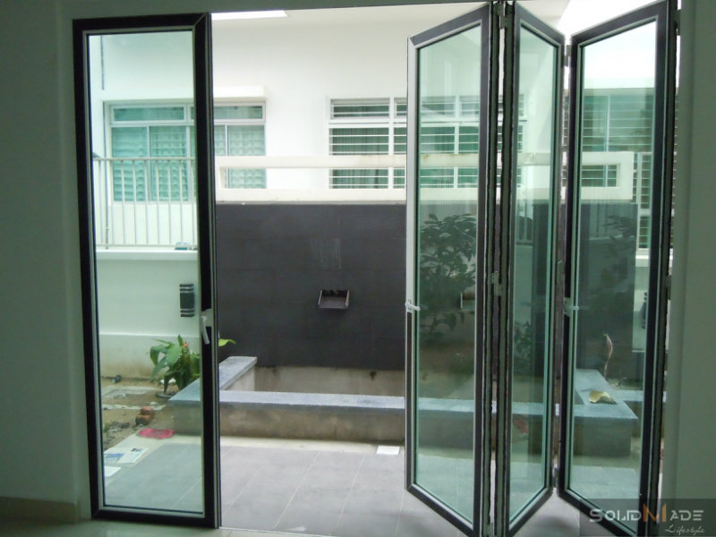 Aluminum folding door aluminum folding door aluminum for Door design johor bahru