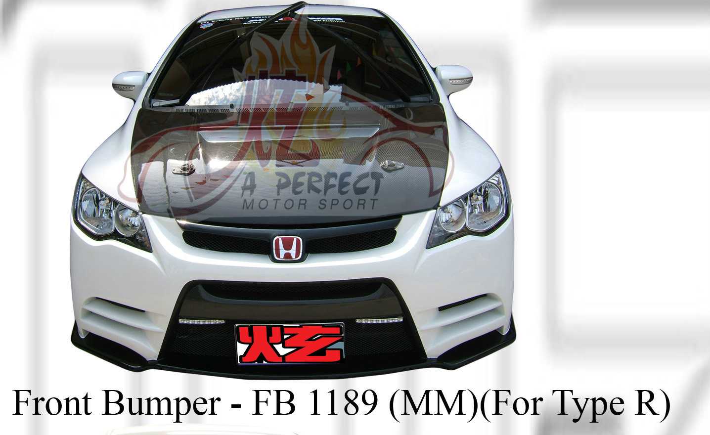 Honda Civic 2006 MM Style Front Bumper For Type R