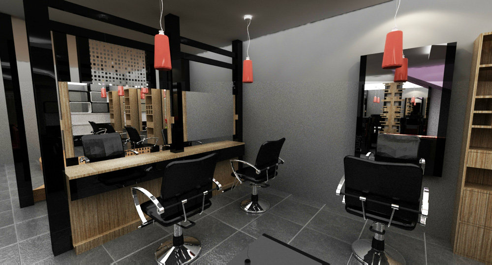 saloon design and renovation . renovation of hair saloon johor bahru . JB