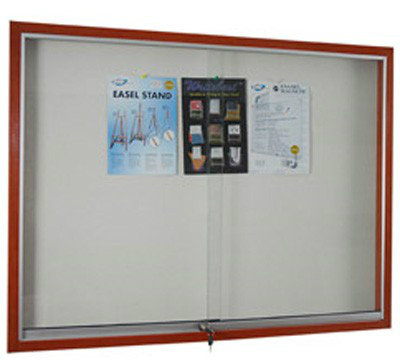 Soft Notice Board With Wooden Frame Cabinet