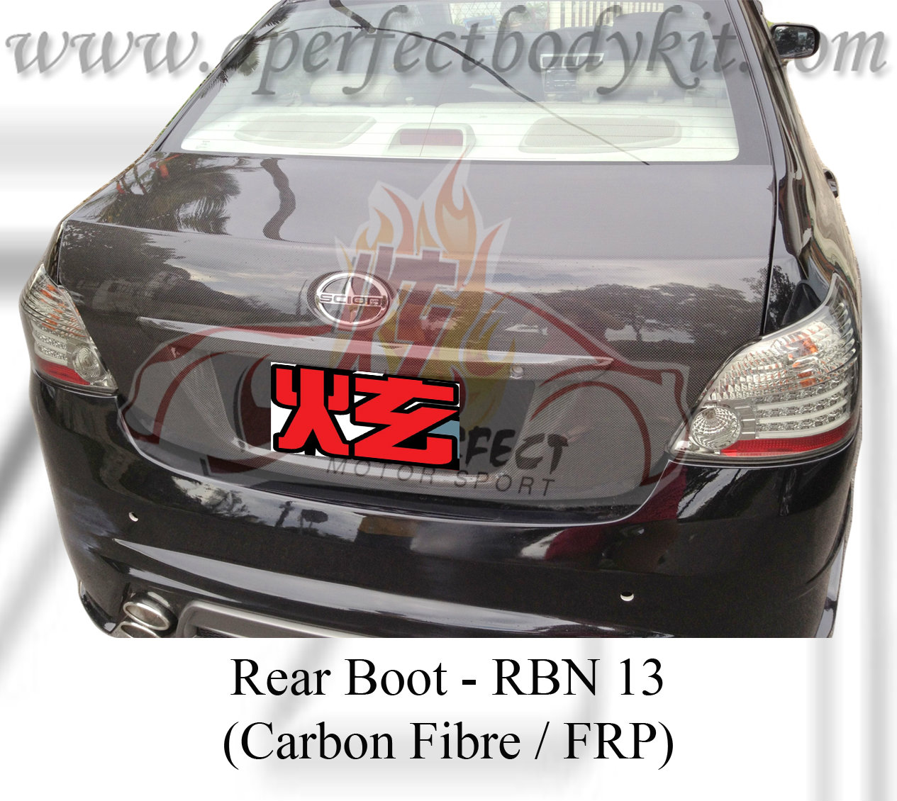 Toyota Vios 2008 Carbon Fibre Rear Boot