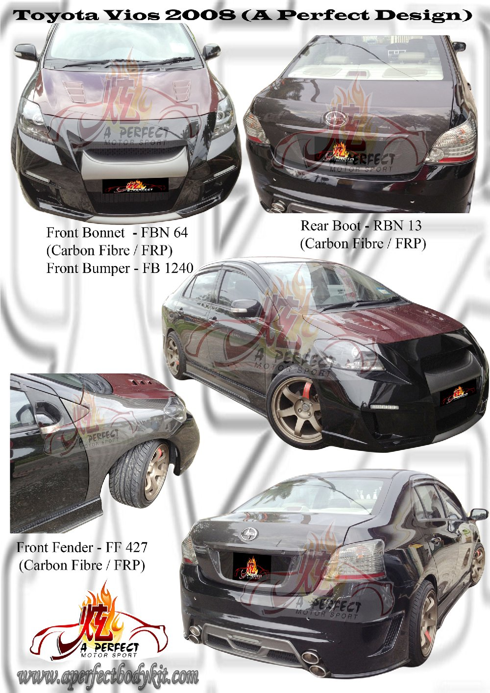 Toyota Vios 2008 A Perfect Design Custom Body Kits Toyota