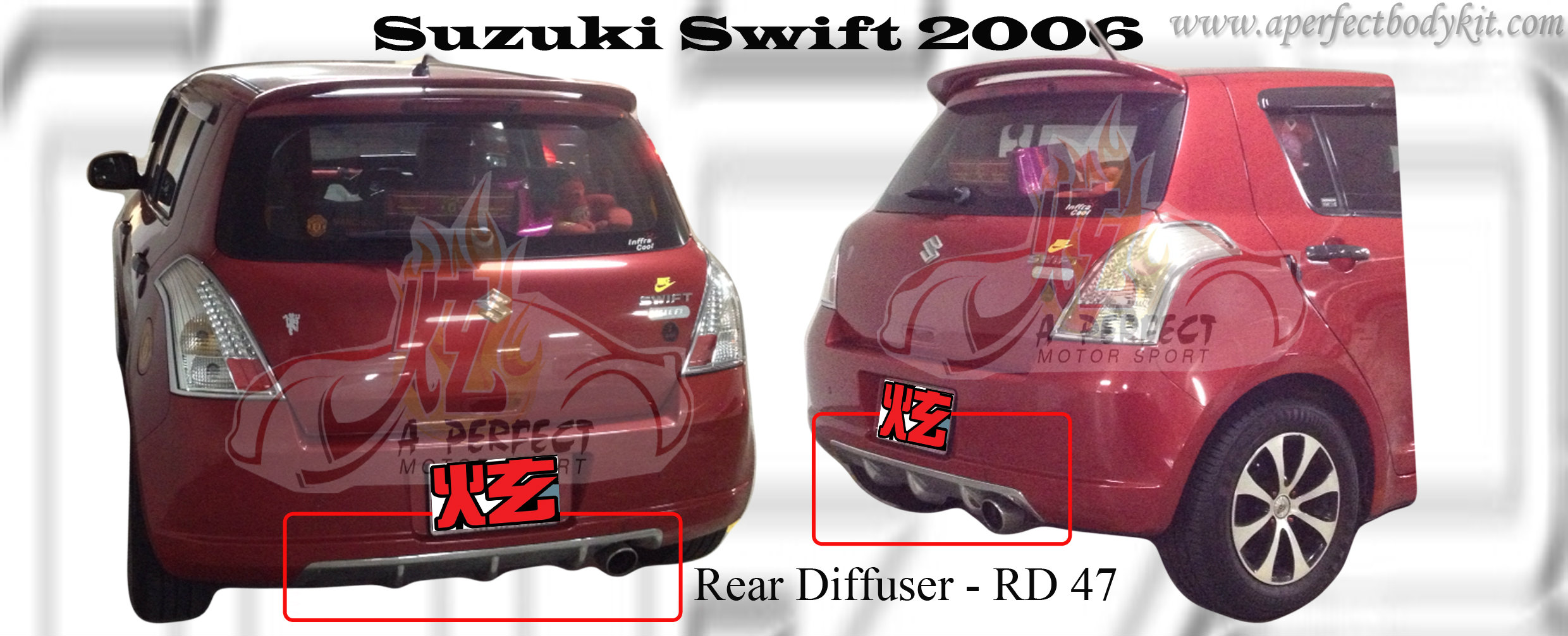 Suzuki Swift 2006 Rear Diffuser