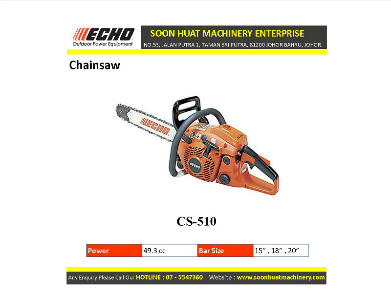 Cs 510 ★ Echo Chainsaw Johor Bahru Jb Malaysia Supply