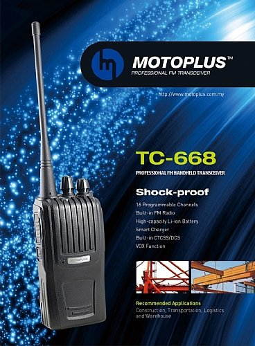 MOTOPLUS WALKIE TALKIE TC-668