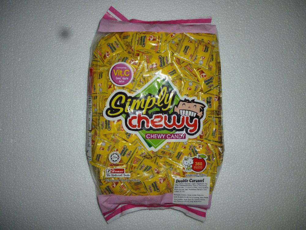 DOUBLE CARAMEL SIMPLY CHEWY 380PCS