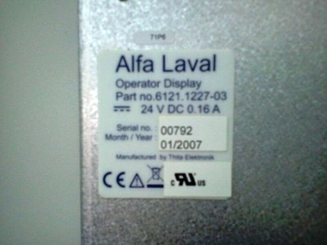 ALFA LAVAL OPERATOR DISPLAY PART NO 6121.1227-03 REPAIR INDONESIA MALAYSIA SINGAPORE