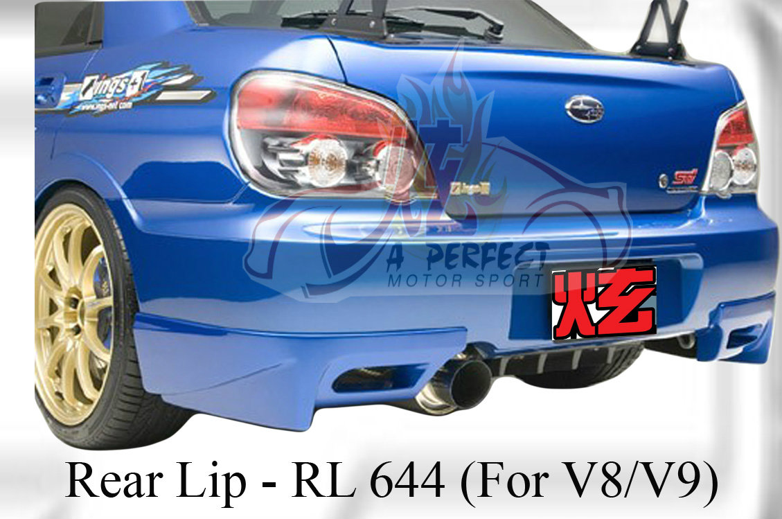 Subaru Version 8 2004 Ing Rear Lip