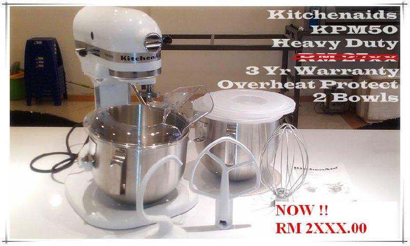 KITCHENAIDS HEAVY DUTY MIXER KPM50 CLEAR STOCK !!