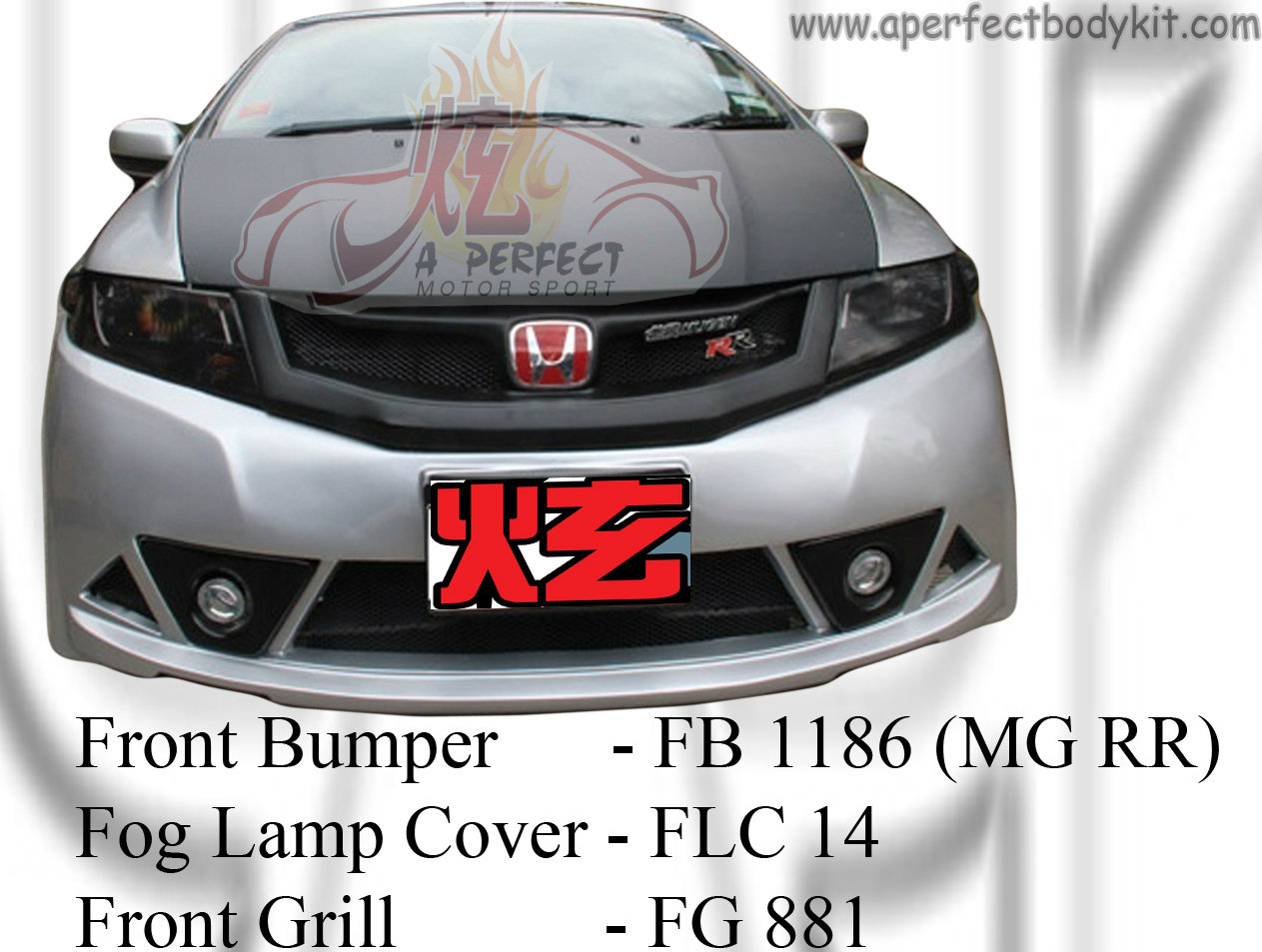 Honda City 2008 MG RR Front Bumper