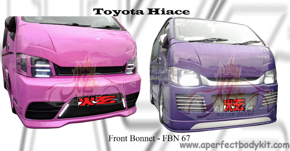 Toyota Hiace Front Bonnet Toyota Hiace 新山 Jb 马来西亚 车身改装 喷漆