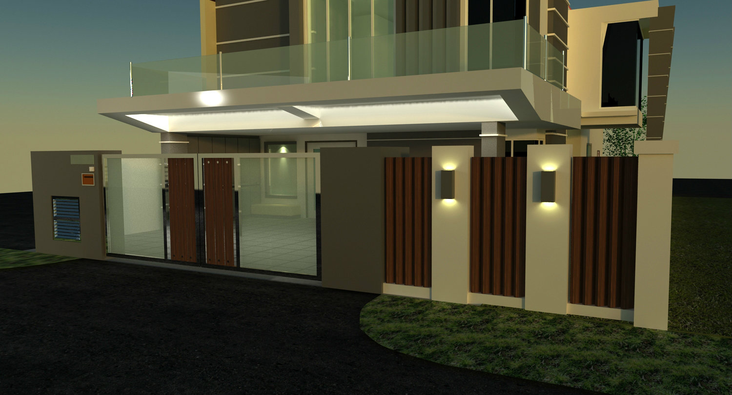design for the house. ponderosa . taman molek