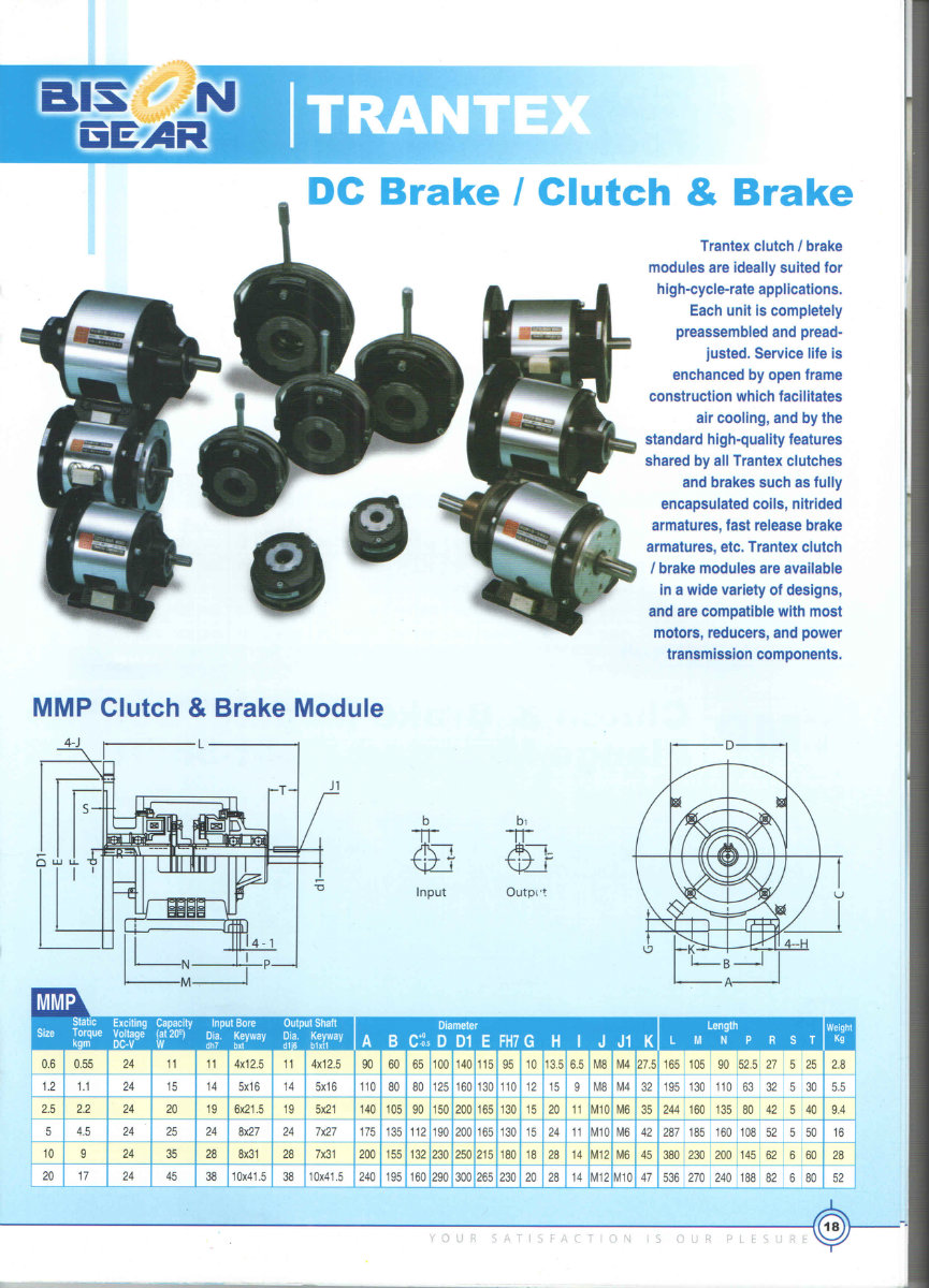 Trantex DC Brake / Clutch and amp; Brake