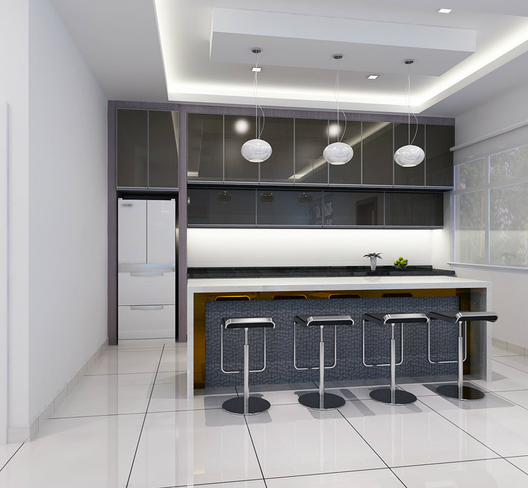 Dry Kitchen Johor Bahru JB Malaysia Residencial Design Semi D