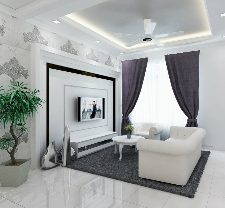Living room johor bahru jb malaysia residencial design for Living room design johor bahru