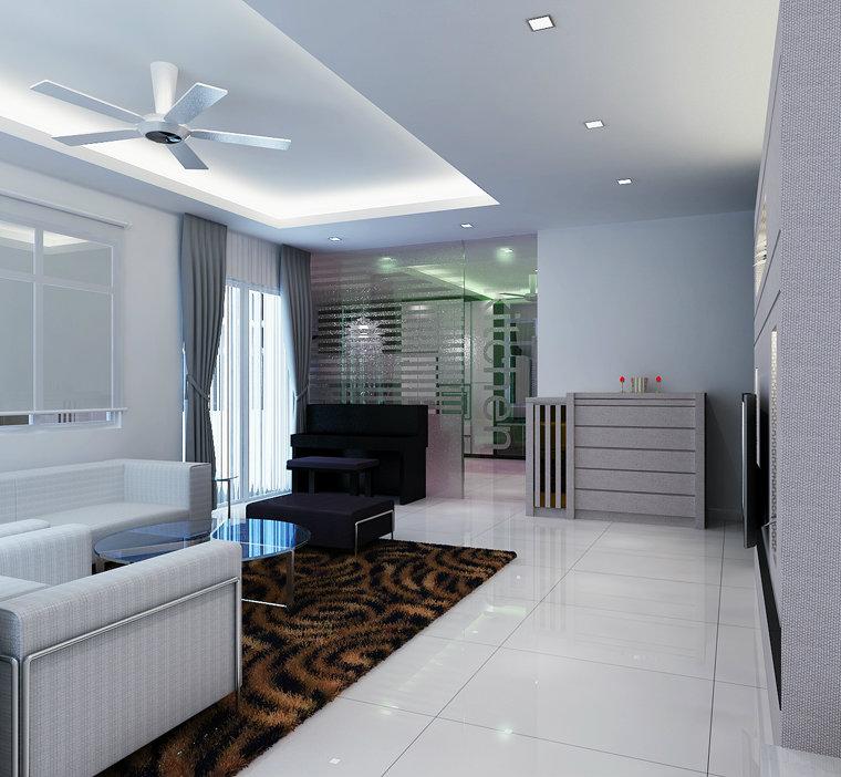 Living room r1 johor bahru jb malaysia residencial for Interior house design malaysia