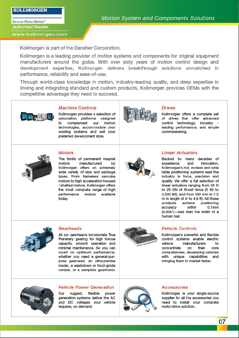 FEG is Authorized Reseller DANAHER MOTION Motors Malaysia