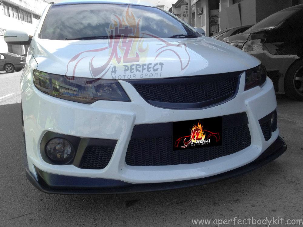 Kia Forte Nf Front Bumper Customize Front V Lip Custom