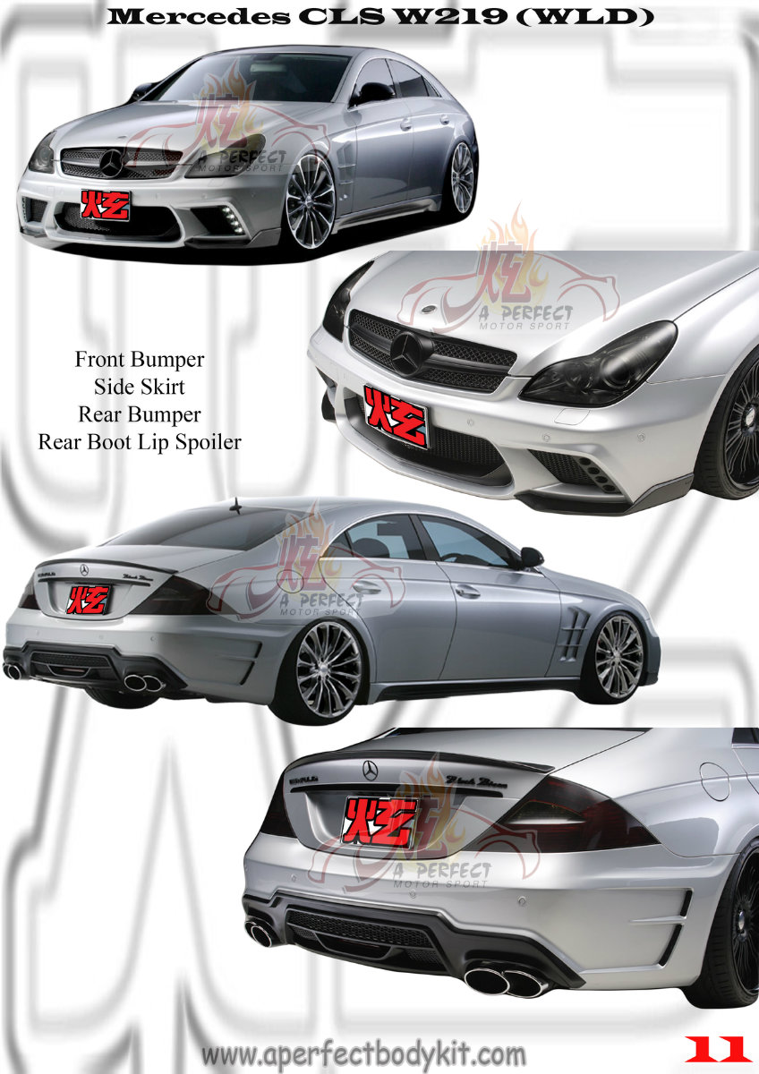 Mercedes CLS W219 WLD Style Bodykits