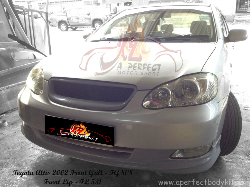 Toyota Altis 2002 Front Grill & Front Lip